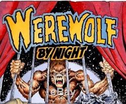 MIKE PLOOG ORIGINAL 1999 WEREWOLF BY NIGHT #6 COVER PAINTING, SIGNED By PLOOG