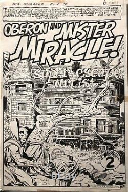 MISTER MIRACLE 14 original art splash by JACK KIRBY and MIKE ROYER - DC COMICS