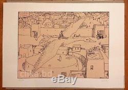 MOEBIUS (Jean Giraud GIR) MAGNIFIQUE SÉRIGRAPHIE 1977 100ex signée -RARE ETAT
