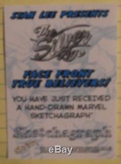 MSA 98 Fleer Marvel Silver Age Sketchagraph RARE Romita Spider-man Split Image