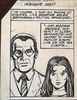 Machine Man Original Artwork Barry Windsor-Smith Herb Trimpe Signed Marvel
