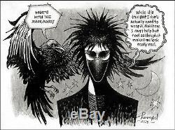 Marc Hempel Original Sandman Art Masked Morpheus