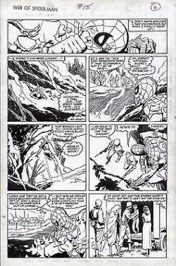 Marc Silvestri 1986 Web Of Spiderman #18 Original Art Page Marvel Comic Artwork