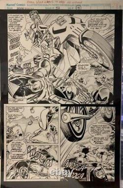 Marc Spector Moon Knight #37 Pg 18 Original Ron Garney Comic Art Page! Punisher