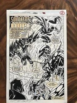 Mark Bagley Amazing Spider-Man #380 pg2 Original Comic Art Splash page 1993