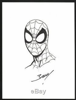 Mark Bagley SIGNED Original Marvel Comic Art Sketch Ultimate Amazing Spiderman