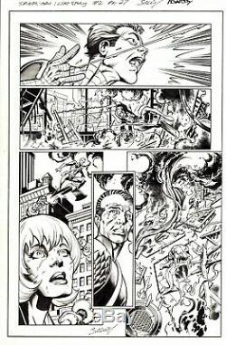 Mark Bagley Signed 2019 Spider-man Original Art-death Of Gwen Stacy