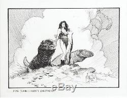 Mark Schultz Original Art Hannah Dundee Xenozoic Tales Illustration (1992)