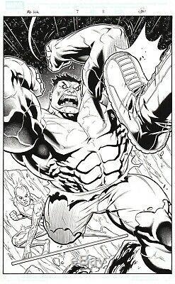 Marvel Adventures HULK Original Art Full Splash Page (Comic Book included!)