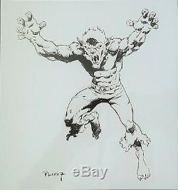 Marvel Comics Werewolf By Night Mike Ploog Framed Art Stan Lee Marvelmania