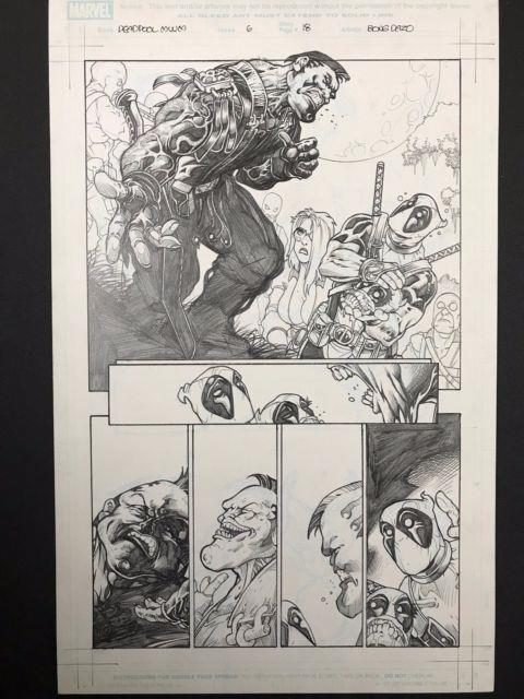 Marvel Deadpool Merc With A Mouth #6 Original Page 18 Art By Bong Dazo