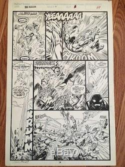 Marvel New Warriors Mark Bagley Original Comic Art / FIRST ISSUE / Signed