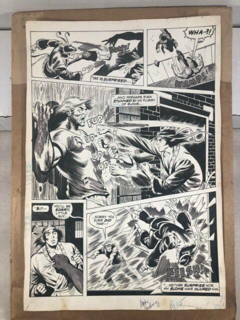 Marvel Shang-chi (deadly Hands Of Kung Fu) #8 P. 15 (1976) Vosburg-abel Original
