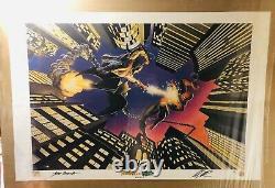 Marvel Spider-Man Green Goblin Alex Ross John Romita Signed Lithograph 24x36