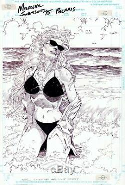 Marvel Swimsuit Special #4 p 24, Pat Broderick, Polaris, X-Factor, Splash, 1995