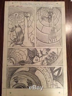 Marvel THE CAT #5 1970's Unpublished Page Original Art Ramona Fradon