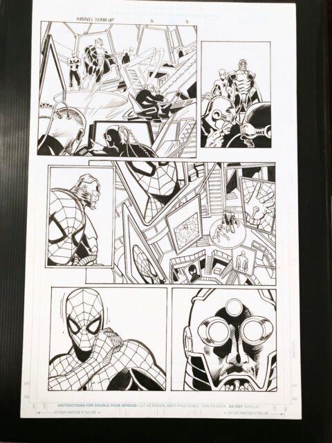 Marvel Team Up V2 #5 Page 5 Original Published Comic Art By Tom Grindberg 1997