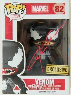 Marvel Venom Signed Funko Pop Clanton Crain Original Art /proof