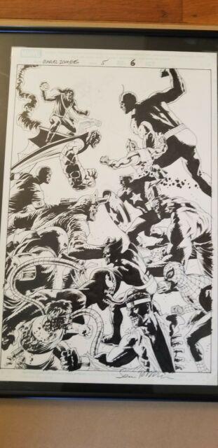 Marvel Zombies 1 Issue 5 Pg 6 Splash. Spider-man Venom Wolverine Cap Goblin