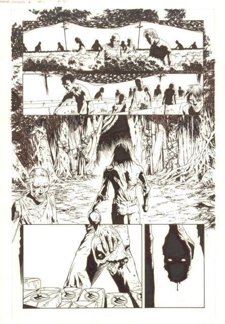 Marvel Zombies 4 #1 P. 15 Deathpool (zombie Deadpool's Head) 2009 Kev Walker