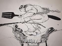 Massive Paul Pope Masked Karimbah Original Art Kid Robot THB Battling Boy