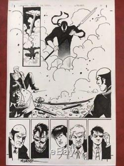 Matt Wagner Grendel Original Art! Beautiful page from Behold the Devil