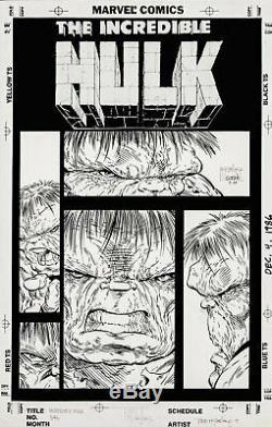 McFARLANE, TODD INCREDIBLE HULK #346 UN-USED COVER ART (1988)