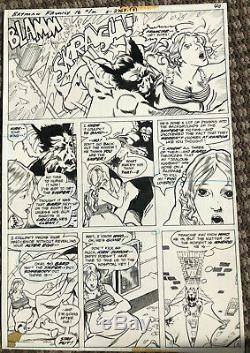 Michael (Mike) Golden original art Batman Family #16 p 40 Man Bat 1977