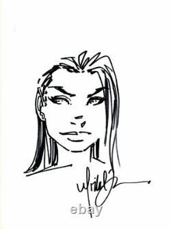Michael Turner Fathom Aspen Head Sketch Original Comic Book Art Sketch app 10x14