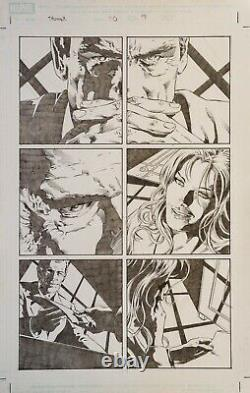 Mike Deodato 3 Original Comic Art Pages from Thunderbolts Originalseiten