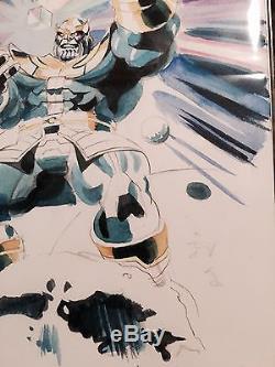 Mike Mayhew Original Art THANOS Infinity War Watercolor Sketch COA