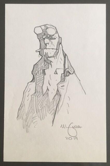 Mike Mignola Hellboy Original Art Sketch