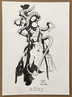 Mike Mignola Hellboy Original Comic Art Illustration