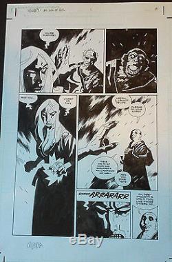 Mike Mignola Hellboy original art Box Full of Evil 1 pg 8