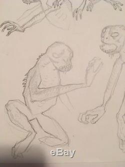 Mike Mignola Original Art Joe Golem Water Monster Hellboy
