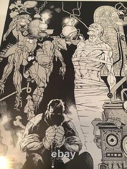 Mike Mignola Signed Print Frankenstein Monster Numbered Hellboy Poster Rare