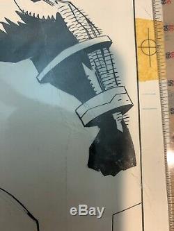 Mike Mignola X-force original comic book art splash page with color guide