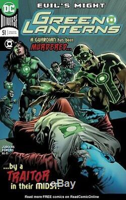 Mike Perkins Signed 2018 Green Lantern, Jessica Cruz, Guy Gardner Orig. Art