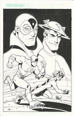 Mike Wieringo original Flash and Impulse art