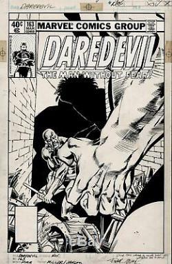 Miller, Frank Daredevil #163 Cover Art (daredevil Vs. Incredible Hulk!) 1980