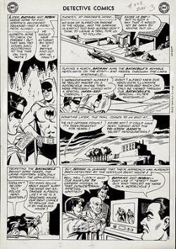 Moldoff, Shelly DETECTIVE COMICS 328 PG 3 Large Original Art (1964) BATMAN