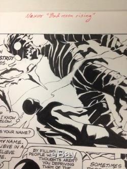 Nexus Original Comic Book Art Bad Moon Rising Dark Horse Presents