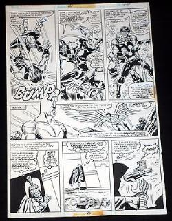 NOVA #10 Original Marvel Bronze Age Comic Art Page pg26 1976 Sal Buscema