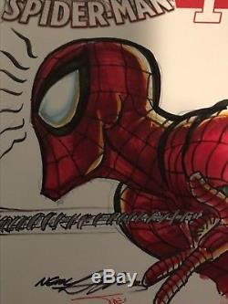 Neal Adams Original Marvel AMAZING Spider-Man Art Sketch Signed