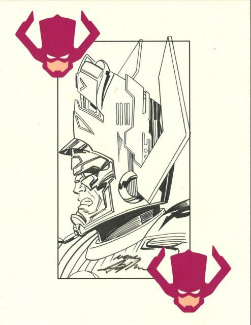 Neal Adams Original Marvel Comics Galactus Profile Art Signed 8 1/2x11
