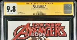 New Avengers #1 Cgc Ss 9.8 Black Widow Original Art Sketch Hawkeye Thor Iron Man