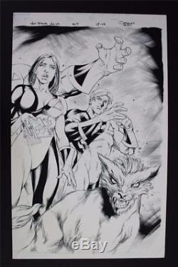 New Mutants Vol. 3 #7 Double Splash Page 7 & 8 (Original Art) Diogenes Neves 2010