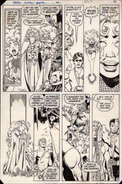 New Teen Titans Annual #1 Art By George Pérez Starfire Raven Robin Kid Flash