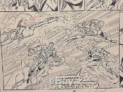 New Warriors Original Comic Art / Issue 9 Pg 8 / Bagley Signed / Marvel / Nova