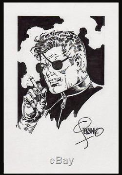 Nick Fury Specialty Art by Jim Steranko